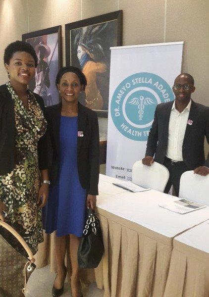 Ebola Survivor Dr. Ada Igonoh, Deputy Chairman Dr. Ama Adadevoh, Chairman Mr. Bankole Cardoso