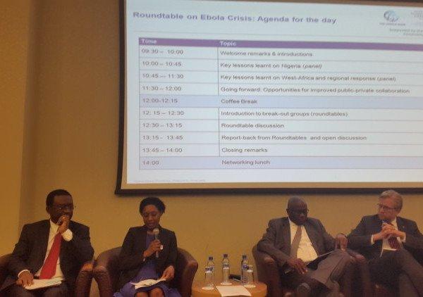Prof. Akin Osibogun former CMD LUTH; DRASA Deputy Chairman Dr. Ama Adadevoh; Dr. Jide Idris, Commissioner of Health, Lagos State; Dr. Wiebe Boer CEO Tony Elumelu Foundation