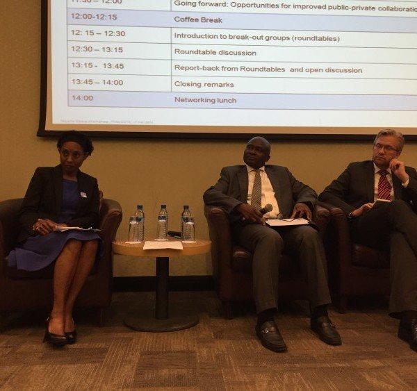 DRASA Deputy Chairman Dr. Ama Adadevoh; Dr. Jide Idris, Commissioner of Health, Lagos State; Dr. Wiebe Boer CEO Tony Elumelu Foundation