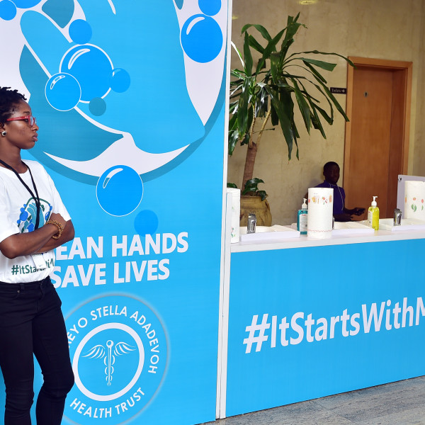 Custom #ItStartsWithMe handwashing booth at the DRASA Launch/Fundraiser