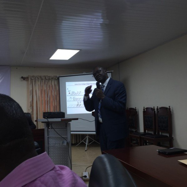 Dr. Christian Happi, Director, African Center of Excellence for Genomics of Infectious Diseases (ACEGID) speaking on their Lassa fever research breakthrough