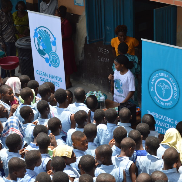 DRASA's MD Niniola Soleye speaking with students