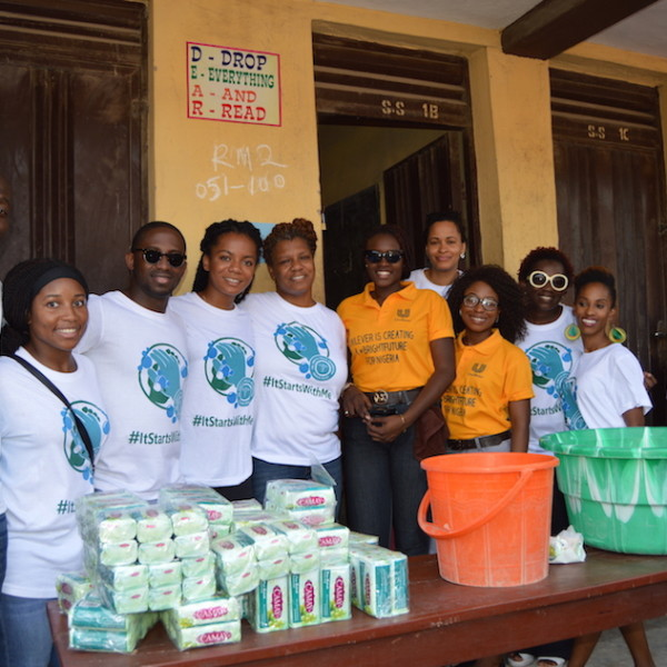 DRASA, Unilever, and volunteers from the American Women's Club Lagos Chapter