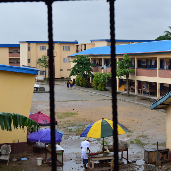 Rainy day at Stadium Senior High School, Surulere, Lagos