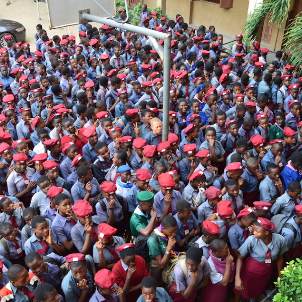 Students at Surulere Girls' Senior Secondary School