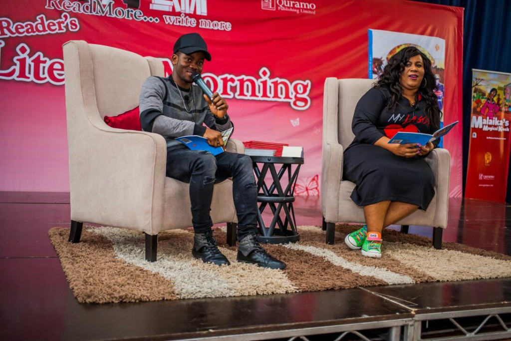 Korede Bello and Chigul During the Book Reading