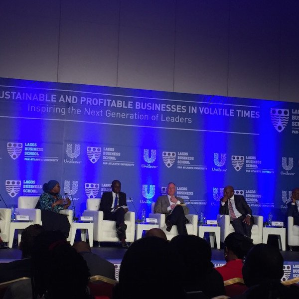 The panel for the interactive session, led by Unilever Plc's Global CEO Mr. Paul Polman