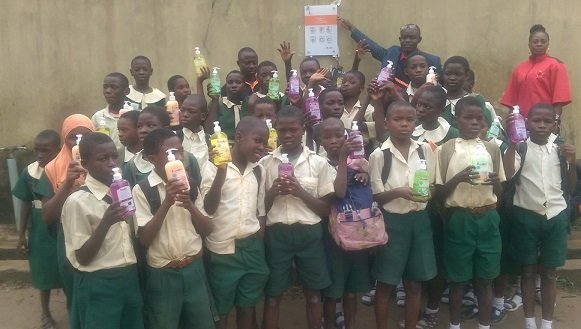 Students with their Kleanmate handwash
