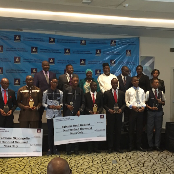 Awardees with the LearnAfrica Board