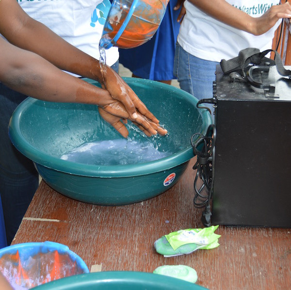 More handwashing