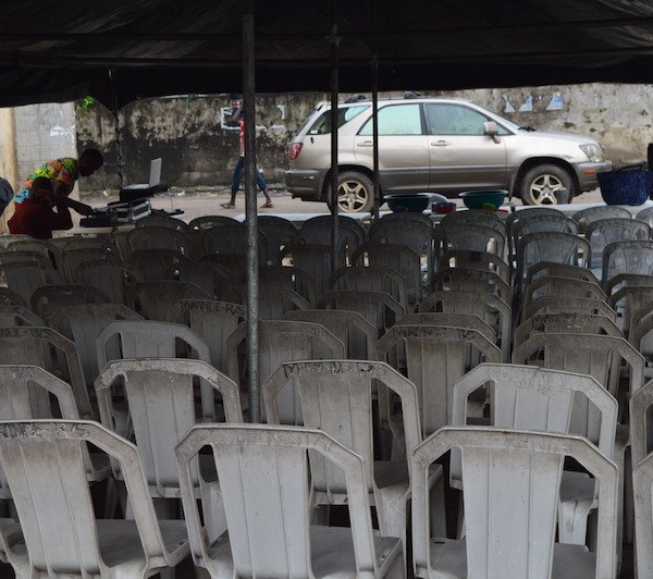 Setting up for Obalende outreach