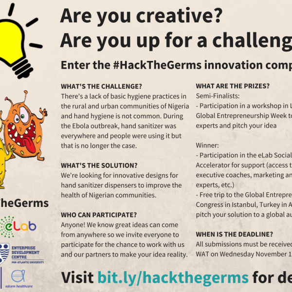 #HackTheGerms Innovation Competition Flyer