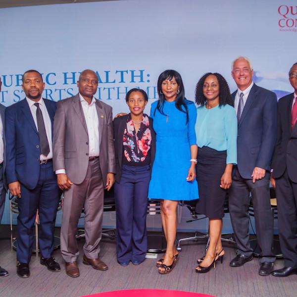 DRASA and our speakers: Dr. Lolu Ojo, Dr. Olumide Okunola, Dr. Jide Idris, Ms. Niniola Soleye, Dr. Joan Benson, Dr. Ama Adadevoh, Dr. Glen Gaulton, Prof. Muyiwa Odusanya