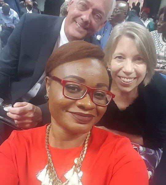 DRASA Program Coordinator Lauretta Ovadje with our international partners Dr. Glen Gaulton and Dr. Susan Coffin