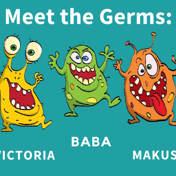 Meet these nasty germs: Victoria the Virus, Baba the Bacteria, and Makus the Microbe. We're looking for a solution to eliminate these 3 troublemakers. Got an idea? Apply for our #HackTheGerms competition!