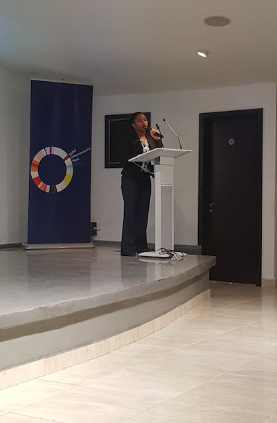 DRASA's MD Niniola Soleye speaking at Market Access 2017