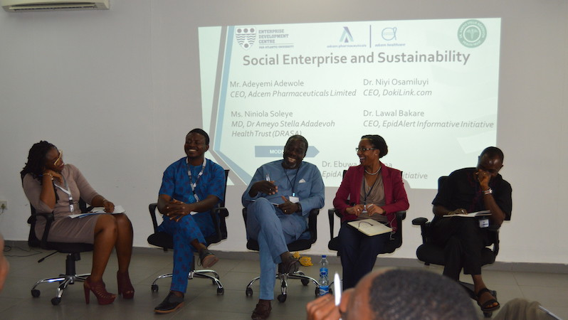 Dr. Ebuwa Evbuoma, EpidAlert; Dr. Lawal Bakare, EpidAlert; Mr. Adeyemi Adewole, ADCEM Pharmaceuticals; Ms. Niniola Soleye, DRASA; Dr. Niyi Osamiluyi, DokiLink.com