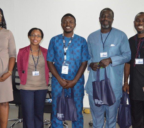 Dr. Ebuwa Evbuoma, EpidAlert; Ms. Niniola Soleye, DRASA; Dr. Lawal Bakare, EpidAlert; Mr. Adeyemi Adewole, ADCEM Pharmaceuticals; Dr. Niyi Osamiluyi, DokiLink.com