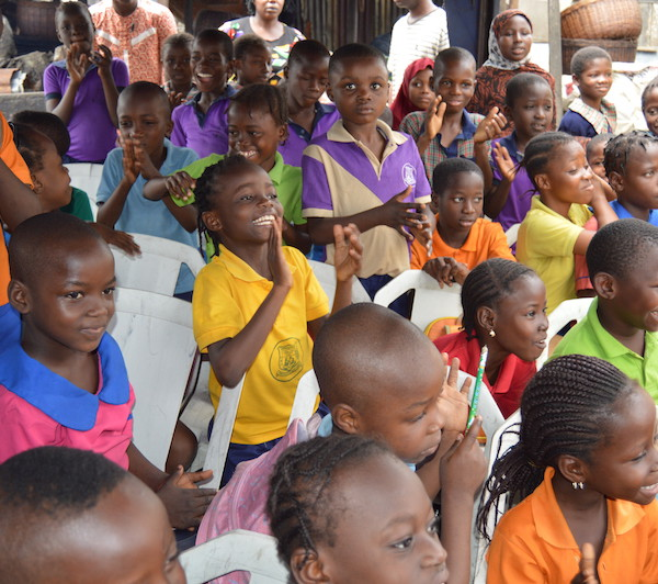 Children in the Ajegunle slum