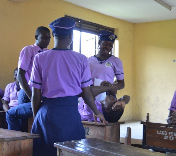 DRASA Ambassadors acting out a hygiene skit/drama