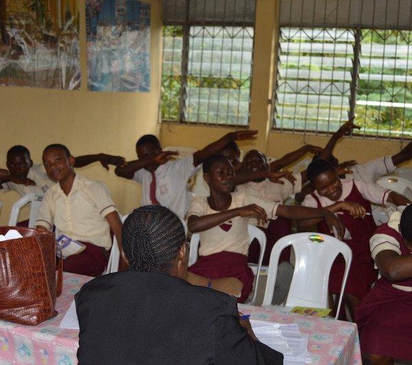 DRASA Ambassadors dabbing to avoid spreading germs!
