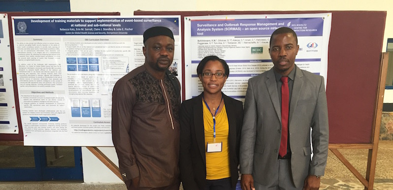 Dotun Bobadoye of GET Africa, DRASA's MD Niniola Soleye, and João Cossa of the Mozambique Ministry of Science and Technology