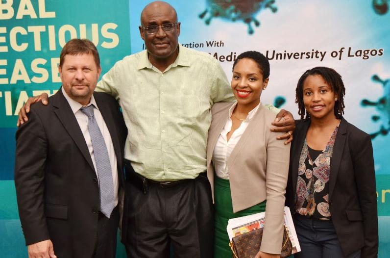 Dr. Yoav Golan, Dr. Folarin Olubowale (Founder GIDI), Dr. Nadine Regis, Ms. Niniola Soleye (DRASA)