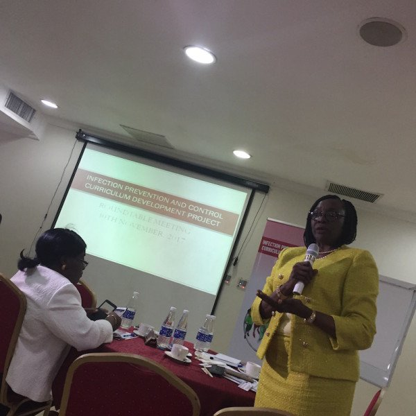 Prof. Sade Ogunsola, Principal Investigator for the Infection Prevention and Control (IPC) Curriculum Development Project