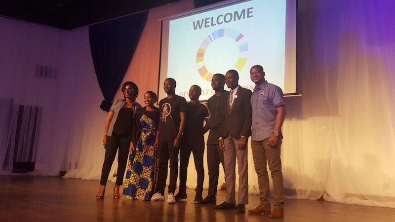 From L to R: Nneka Okeke (EDC), Niniola Soleye (DRASA), Dammy Onanuga (#HackTheGerms Winner Nupe Project Team), Funfere Koroye (#HackTheGerms Winner Nupe Project Team), Osamuyi Adonri (#HackTheGerms Winner Covenant University Team), Damilare Oshokoya (#HackTheGerms Winner Covenant University Team), Olawale Anifowose (EDC and GEN Nigeria)