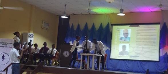 LUTH medical students acting out a drama