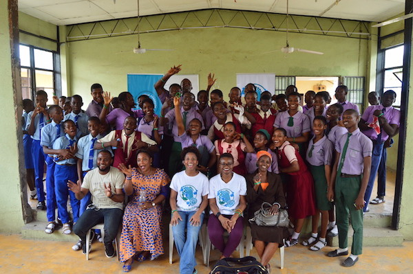 Group shot after the performances
