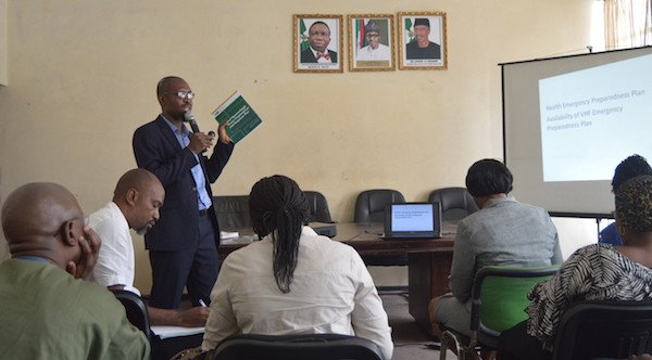 Distributing the Nigeria Centre for Disease Control's (NCDC) National Guidelines on Infection Prevention and Control of Viral Hemorrhagic Fevers and the NCDC's Standard Operating Procedures for Lassa Fever Case Management