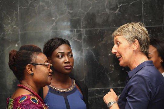 Dr. Lauretta Ovadje and Praise Adeyemo representing DRASA