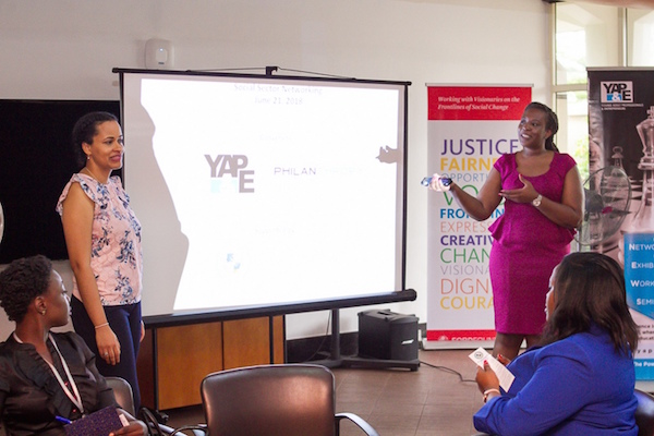 Katja Nwator of Philanthropy Circuit and Funke Shonekan of The Chris Ogunbanjo Foundation at the Connecting the Dots in the Social Sector Event