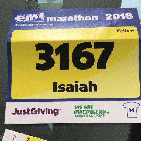 Isaiah running for DRASA