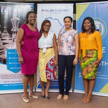 Funke Shonekan of The Chris Ogunbanjo Foundation; Lauretta Ovadje of DRASA; Katja Nwator of Philanthropy Circuit; and Tolu Falowo of CancerAware