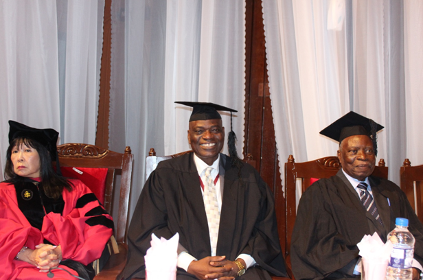 Prof. Phyllis Kanki; Prof. Oluwatoyin Ogundipe, Vice Chancellor, University of Lagos (UNILAG); and Justice Olayinka Ayoola, former Justice of the Supreme Court