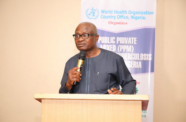 Lagos State Commissioner for Health Dr. Jide Idris at PPM for TB Control Event