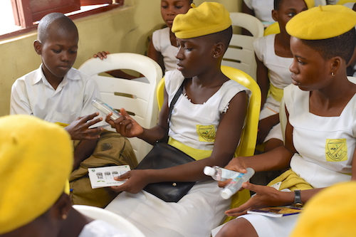 DRASA Union Bank World Savings Day 2018: Students with Their Hygiene Items