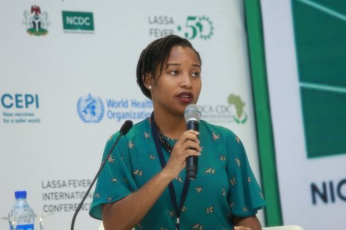 DRASA's Managing Director Niniola Soleye at the Lassa Fever International Conference