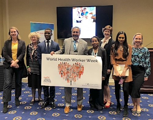 Frontline health worker advocates and partners