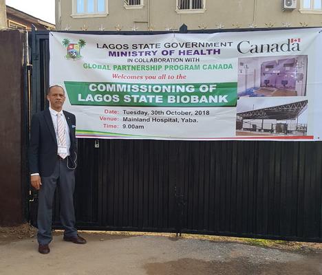 Prof. Akin Abayomi at Lagos State Biobank