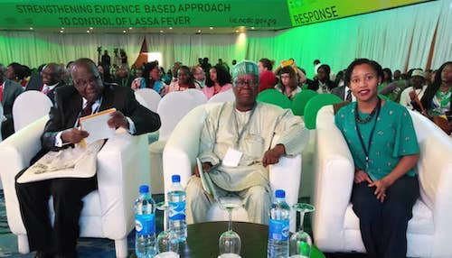 Professor Njidda M. Gadzama, Professor Emeritus of Zoology and Environmental Science, University of Maiduguri, Borno State; Professor Abdulsalami Nasidi; Niniola Soleye, DRASA