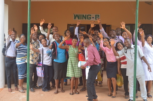 FETHA Ebonyi Lassa Fever IPC Training Group Picture Outside Ward