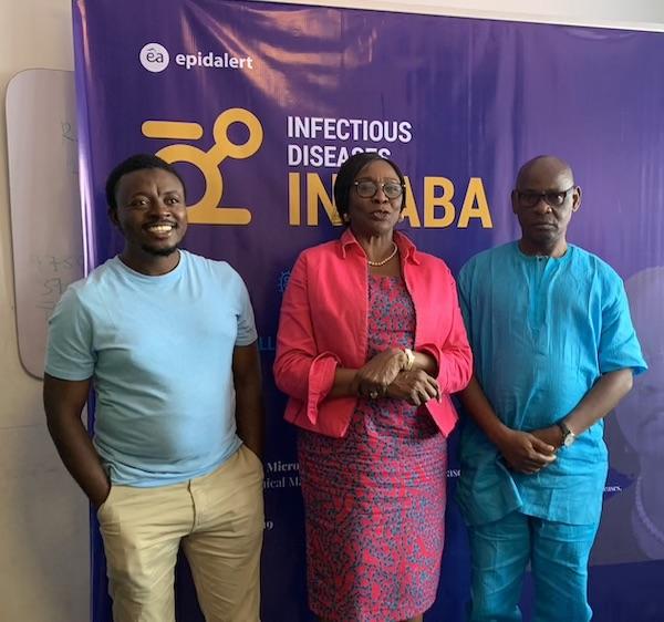 Dr. Lawal Bakare, EpidAlert; Prof. Folasade Ogunsola, College of Medicine, University of Lagos; Dr. Eniola Erinosho, Director Disease Control National Primary Health Care Development Agency