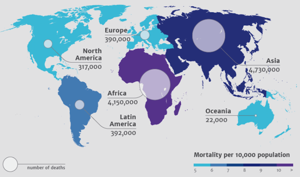 State of AMR worldwide by 2050