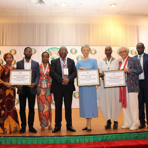 Economic Community of West African States (ECOWAS) Award of Excellence recipients with ECOWAS staff