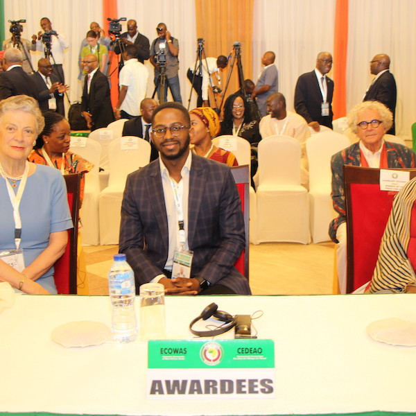Mrs. Nane Marie Annan, Mr. Bankole Cardoso, and Madame Germaine Acogny at the 55th Summit of the Authority of Heads of State and Government of ECOWAS
