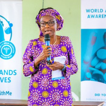 Mrs. Jinadu, representative of the Lagos State Ministry of Education and DRASA supporter