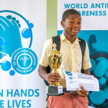 DRASA Ambassador with his Certificate of Participation and trophy